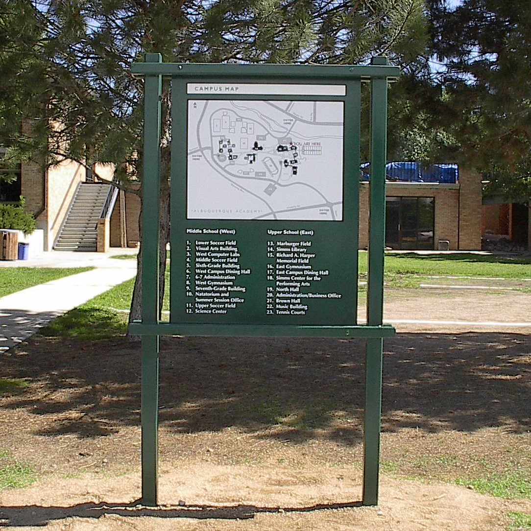 Albuquerque Academy Campus Map 1 The Sign Store Nm