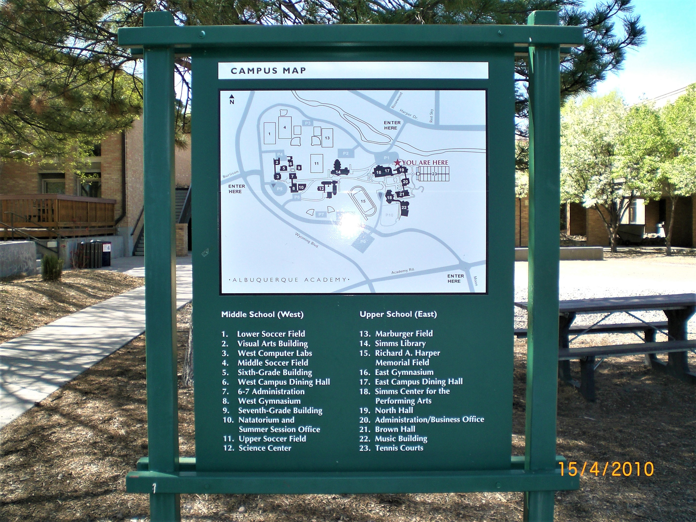 Albuquerque Academy – Campus Map (2) – The Sign Store NM