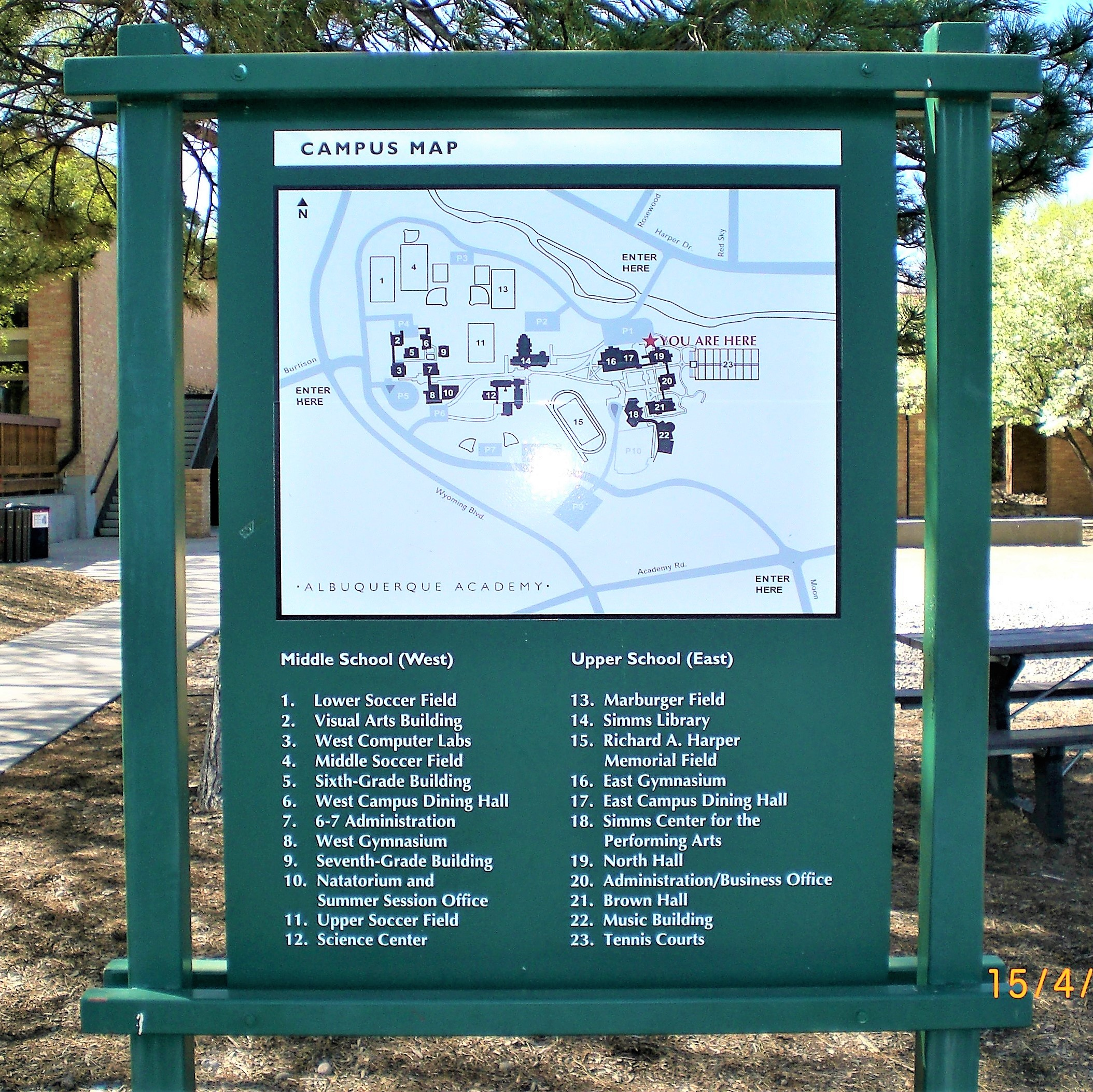 Albuquerque Academy – Campus Map a (2) – The Sign Store NM