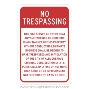 Parking/Property Lot Signs