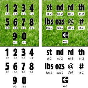 Yard Signs - Number/Symbol Sets